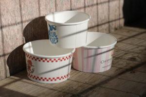 Pots de crème glacée